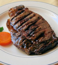 Steak boeuf
