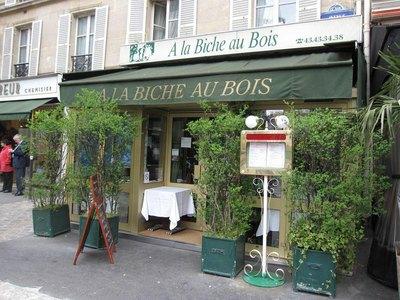 A La Biche au Bois : restaurant gibier à Paris