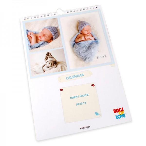 Calendrier personnalisé avec les photos de petits-enfants