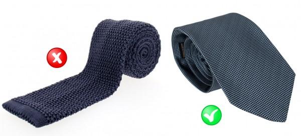 Cravate : matière et style